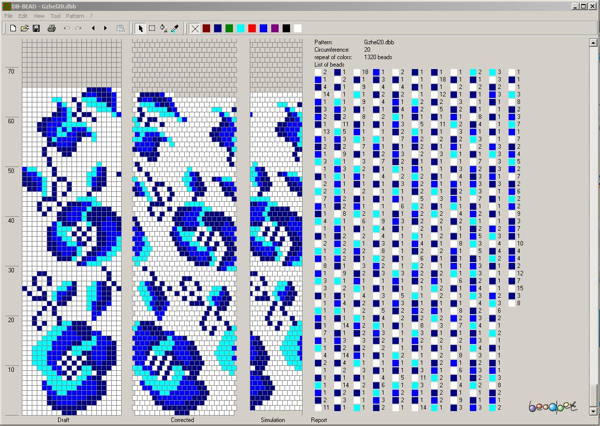 Бисер схемы узоров вязанных жгутов